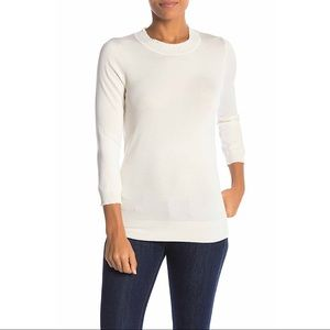 NEW $78 Max Studio Mock Neck Ribbed Knit Sweater